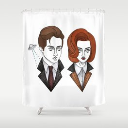 mulder and scully Shower Curtain