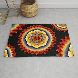 Sun and Flame Mandala Rug