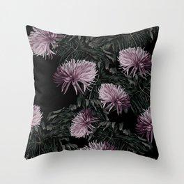 Night Floral Throw Pillow