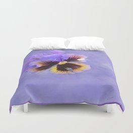 Lavender Pansy Duvet Cover