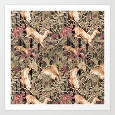Wild life pattern Art Print