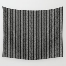 Mud cloth - Black and White Arrowheads Wall Tapestry