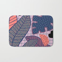 Palm & Monstera Leaves Bath Mat