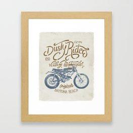 Dusty Riders Vintage Motorcycles Framed Art Print