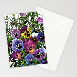Pansy Delight Stationery Cards