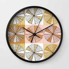 Macrame Circles Wall Clock