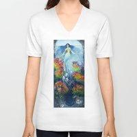 evolution V-neck T-shirts featuring Evolution  by Lindsay Turner