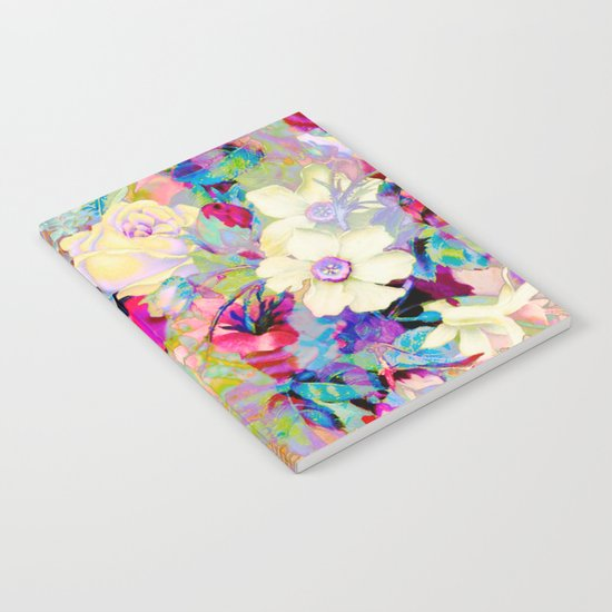 summery floral Notebook
