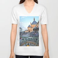 bicycles V-neck T-shirts featuring bicycles by  Agostino Lo Coco