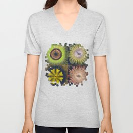 Methylator Structure Flowers  ID:16165-011604-36970 Unisex V-Neck