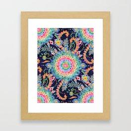 Color Celebration Mandala Framed Art Print