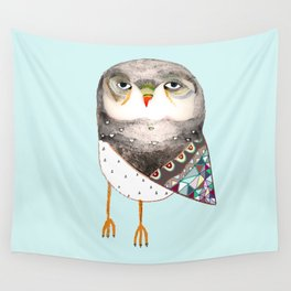 Owl by Ashley Percival Wall Tapestry