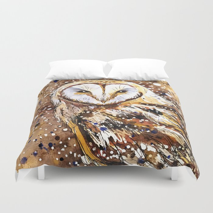 winter's owl Duvet Cover