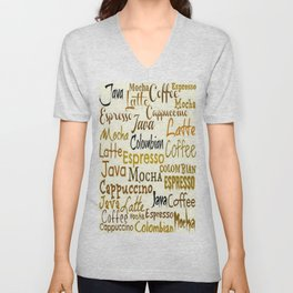 COFFEE LINGO Unisex V-Neck