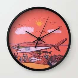 Galopagos Shark & Friends Wall Clock