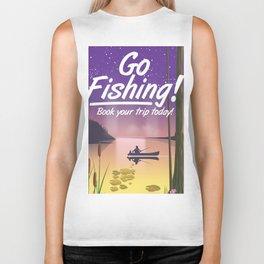 Go Fishing! Biker Tank