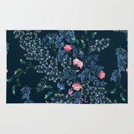 Floral - Blue & Pink Rug
