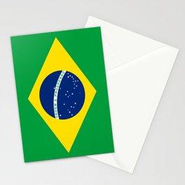 Flag of Brazil-Brazil, flag, flag of brazil, brazilian,Rio, Sao Paulo, Rio de Janiero, carnival Stationery Cards
