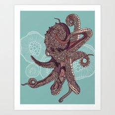 Octopus Bloom Art Print