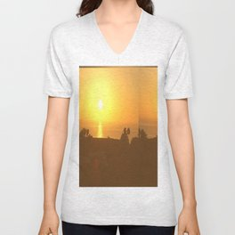Here Comes the Sun - San Diego Unisex V-Neck