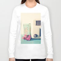 radio Long Sleeve T-shirts featuring Retro Radio by Olivia Joy St.Claire - Modern Nature / T