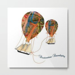 Hot Air Balloons Destination Serendipity Metal Print