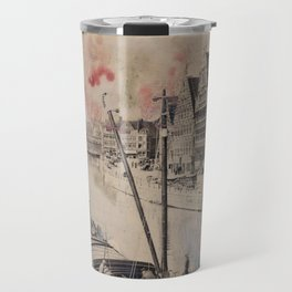 Ghent Painted Postcard Travel Mug