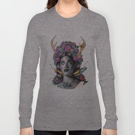 Flowered Prongs Long Sleeve T-shirt