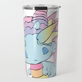 Rainbow Sherbet Baby Dragon Travel Mug