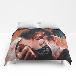 Adrenaline Shot - Mia Wallace - Pulp Fiction Comforters