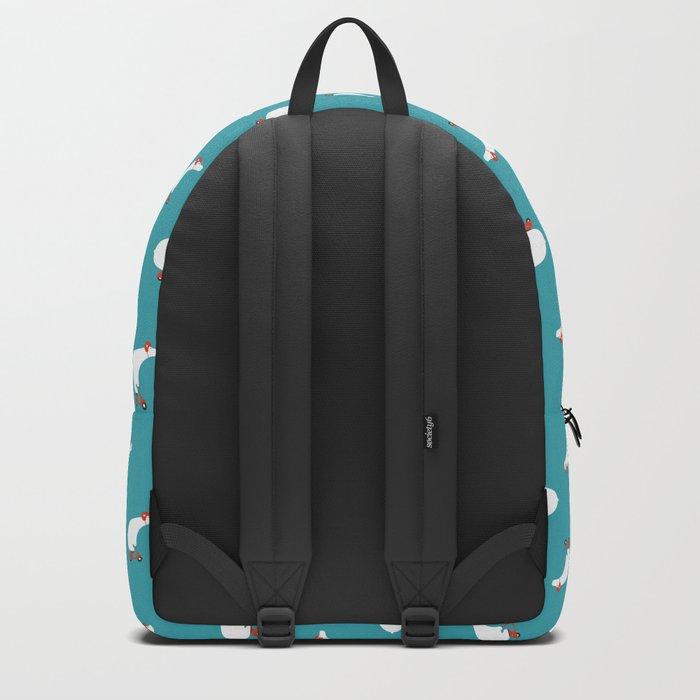 Polar bear on scooter Backpack