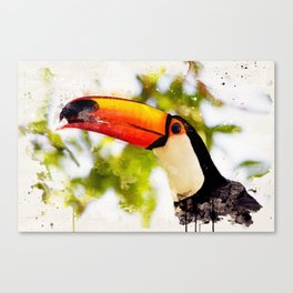 Hungry Toucan Canvas Print