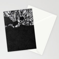 Seeing black and white Stationery Cards