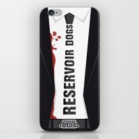 reservoir dogs iPhone & iPod Skins featuring Reservoir Dogs Tribute Poster by stefano manca