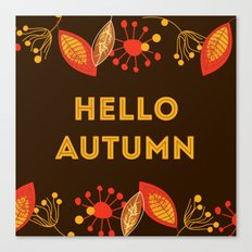 Hello Autumn brown Canvas Print