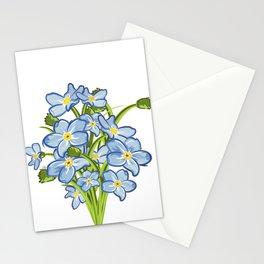 Spring Bouquet of Blue Myosotis Stationery Cards