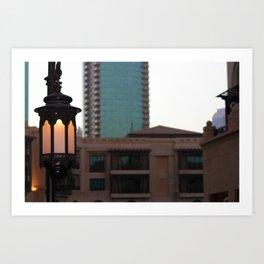 Dubai - Lamp outside Burj Al Arab Art Print