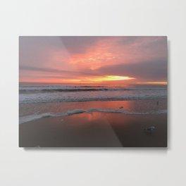 sunrise va beach Metal Print