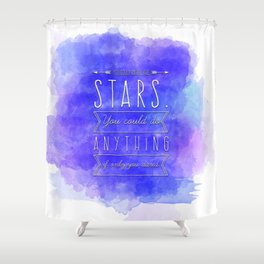 Rattle The Stars Shower Curtain