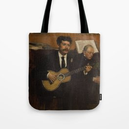 Lorenzo Pagans and Auguste de Gas by Edgar Degas Tote Bag