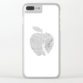 New York City big apple Poster black and white I Heart I Love NYC home decor bedroom wall art Clear iPhone Case