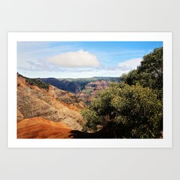 Waimea Canyon Art Print