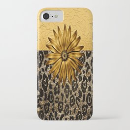 Animal Print Brown and Gold Animal Medallion iPhone Case