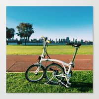 brompton Canvas Prints featuring Brompton by Juan Lyn