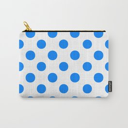 Polka Dots (Azure/White) Carry-All Pouch