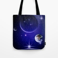 Fantastic yourney into space. Tote Bag