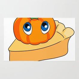 Pumpkin Pie Cute Baby Pumpkin on a Pie Design Rug