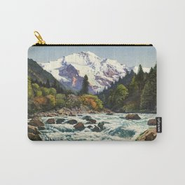 Mountains Forest Rocky River Carry-All Pouch