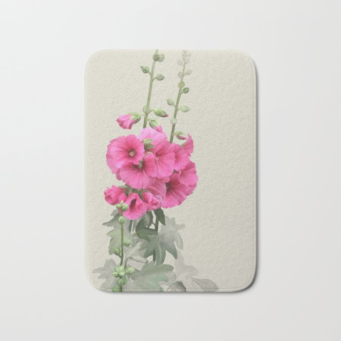 Pink flowers, watercolors Bath Mat