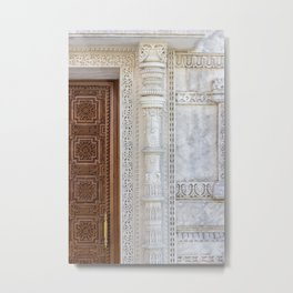 Temple Door Metal Print